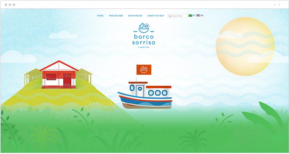Barco Sorriso: Parallax examples