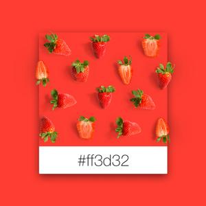 Wix Pinterest color inspiration: strawberries