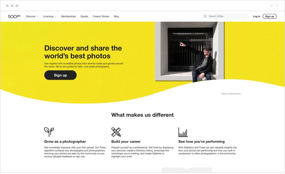9 лучших бесплатных хостингов изображений: 500px