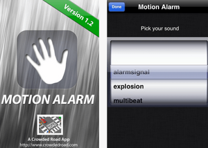 Captura de pantalla de la aplicación Motion Alarm