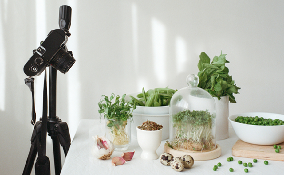 Bitkilerin ürün fotoğraf çekimi