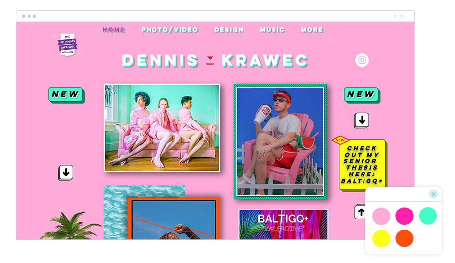 Página web wix de Dennis Krawec