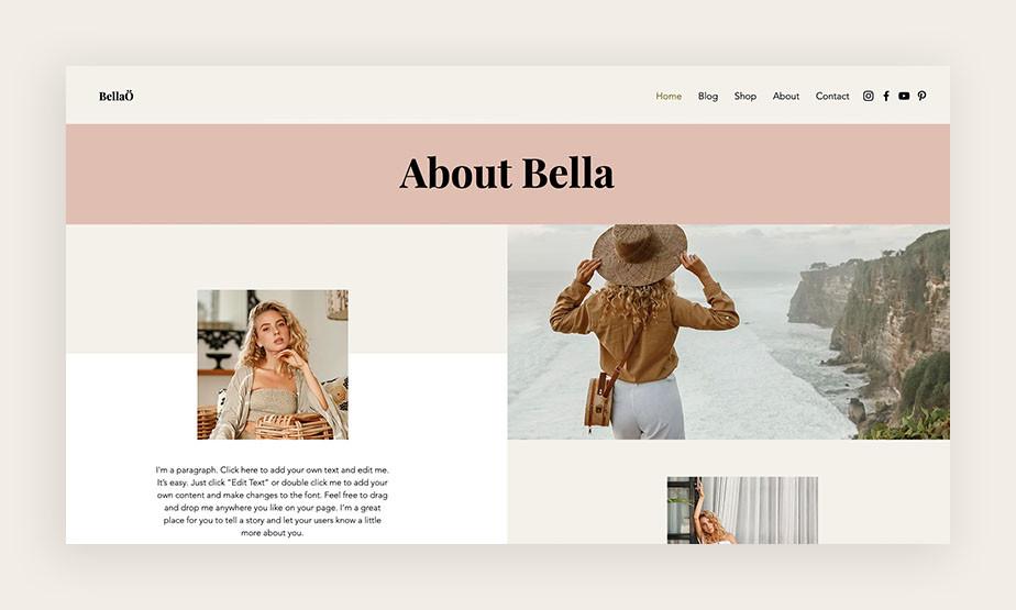 블로그에 나타나는 소개 페이지 이미지