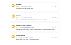 Application commentaires Wix