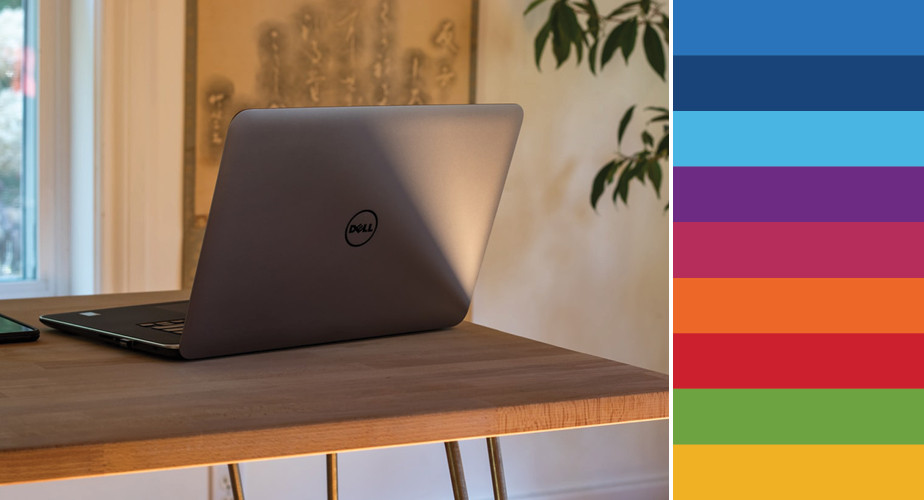 Paleta de cores da Dell