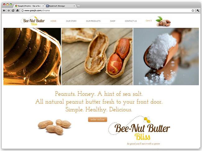 Página de Inicio de Bee-Nut Butter Bliss
