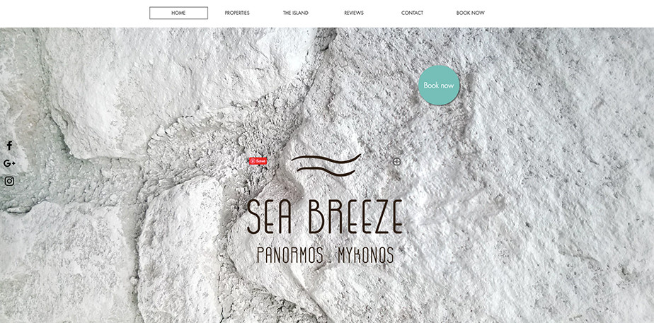 Hotel website design Sea Breeze
