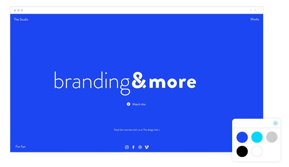 Página web profesional Wix de estudio de branding