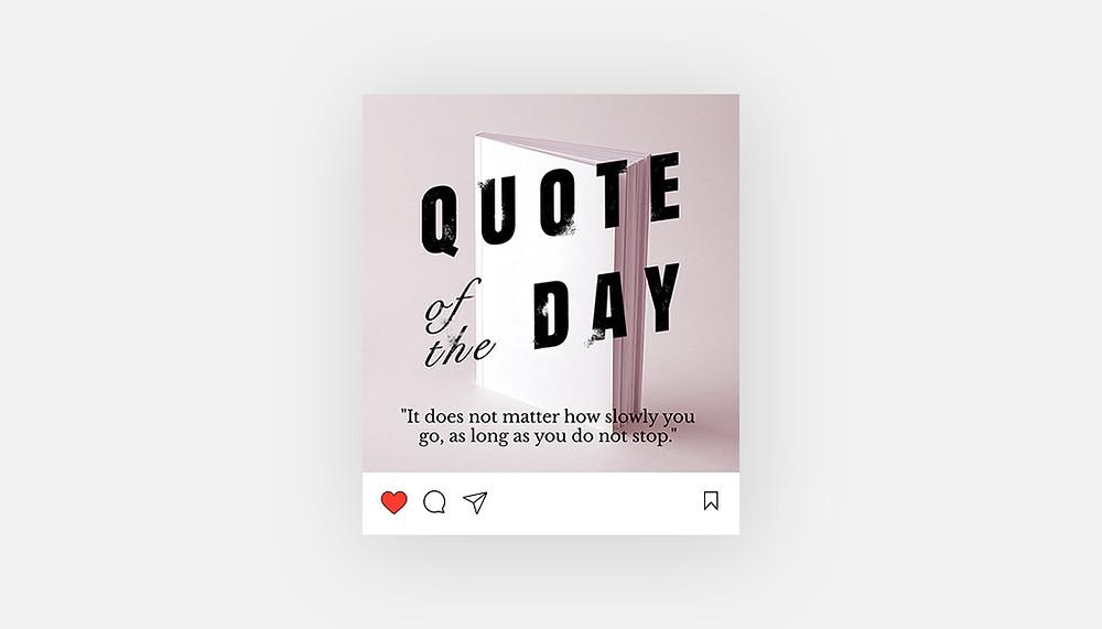 """""""Quote van de dag"""" Instagram template"""