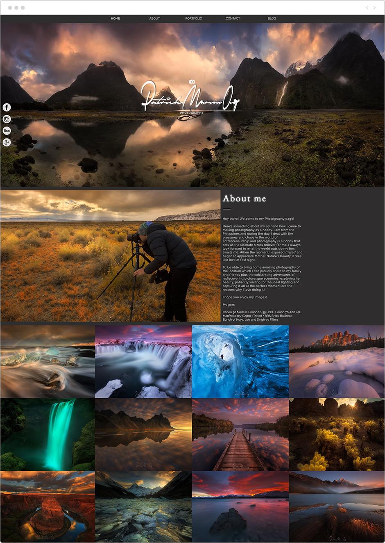 風景写真家サイト Patrick Marson