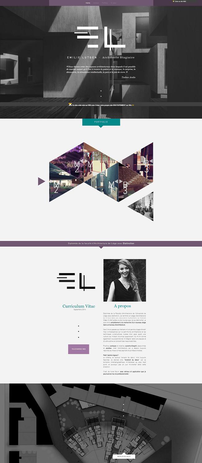 EL architecture.wix.com emilielutgen