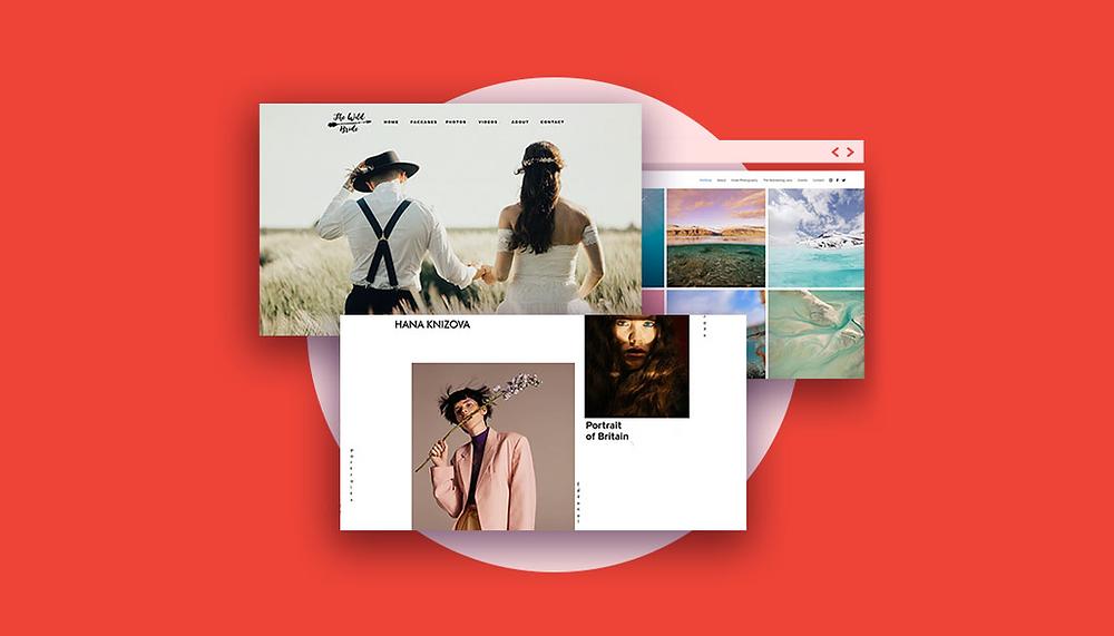 3 exemplos de portfolios de fotografia feitos com o Wix