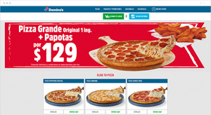 Página de inicio de Domino's Pizza