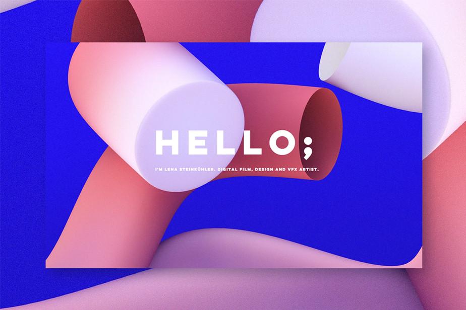 Portfolio als Beispiel für gutes Portfolio-Design von Lena Steinkühler