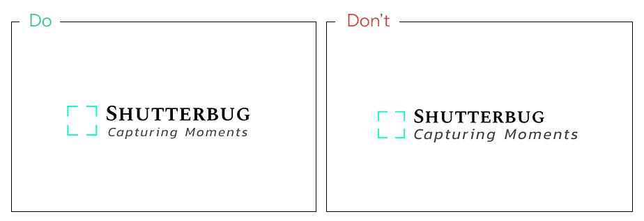 Logo von Shutterberg als Beispiel für Balance im Logodesign