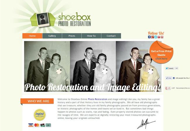 Shoe Box Photo Restoration