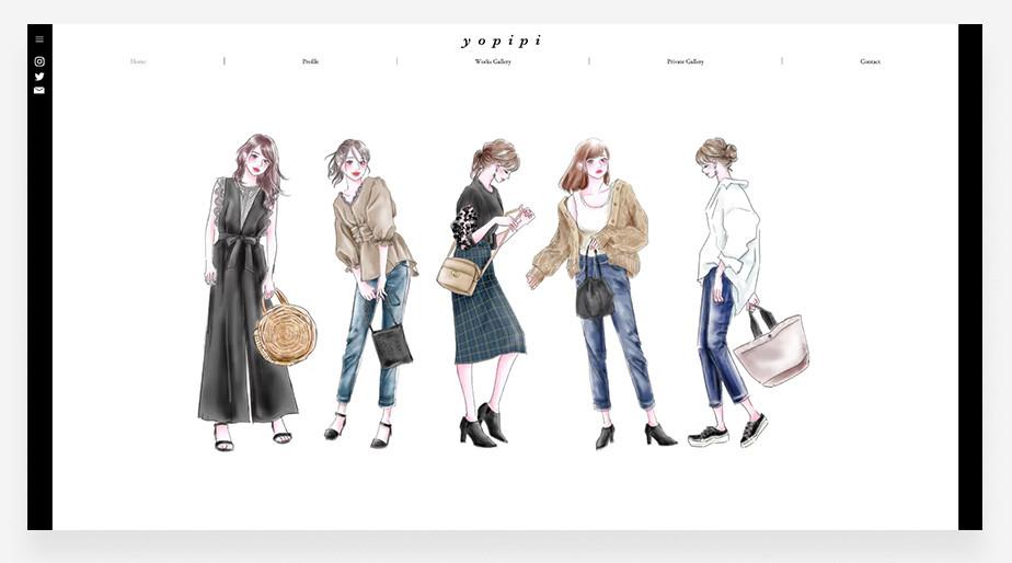 yopipi〈よぴ〉さんのポートフォリオサイト