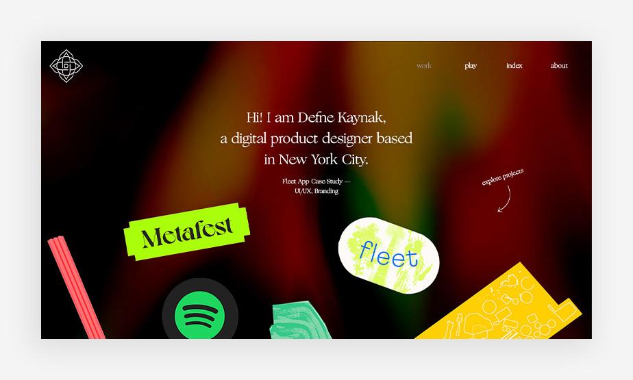Het beste website voorbeeld van Defne Kaynak