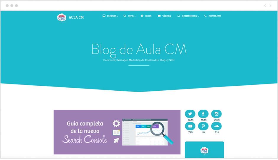 Página de inicio del Blog AulaCM
