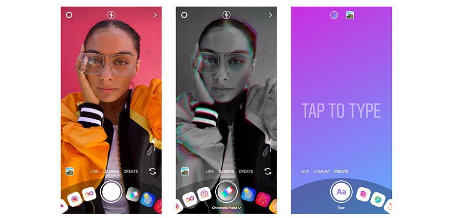 camera design feature on Instagram