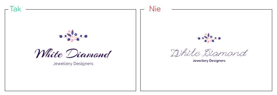 Użyj czcionek imitujących pismo ręczne, aby nadać logo unikalny wygląd.