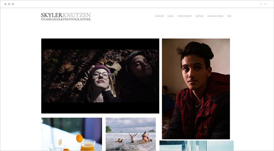 비디오 및 사진 포트폴리오 예시
