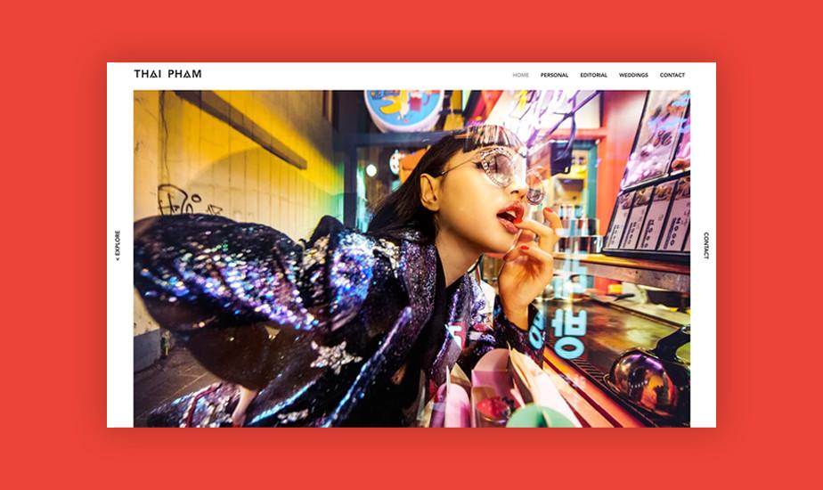 Screenshot der Website von Thai Pham Photography