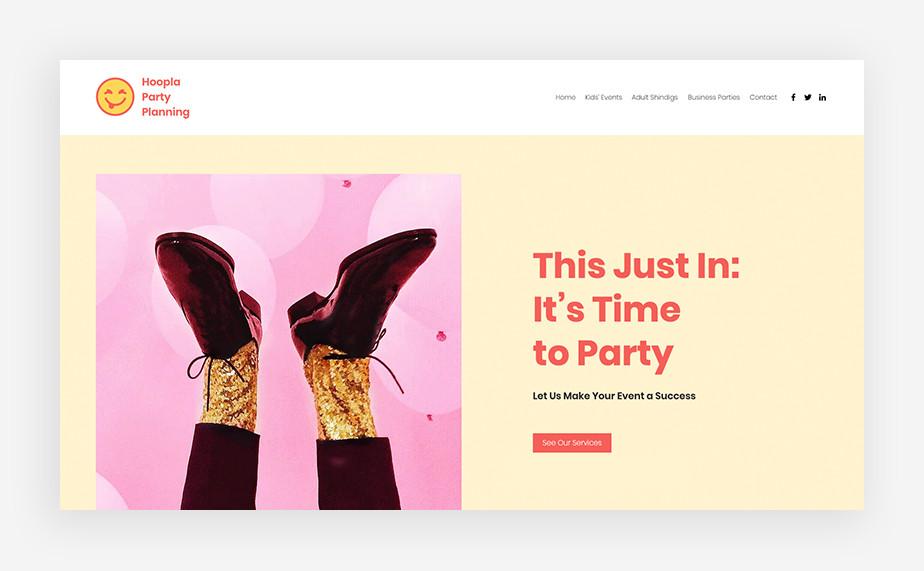 Event planner – strona internetowa