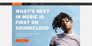 Página de inicio de SoundCloud
