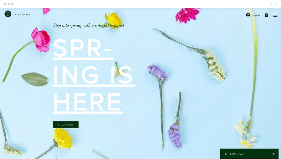 Flower shop template