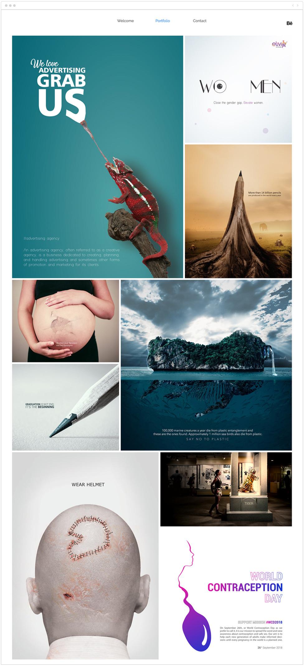 Designer porfolio examples: Loopick