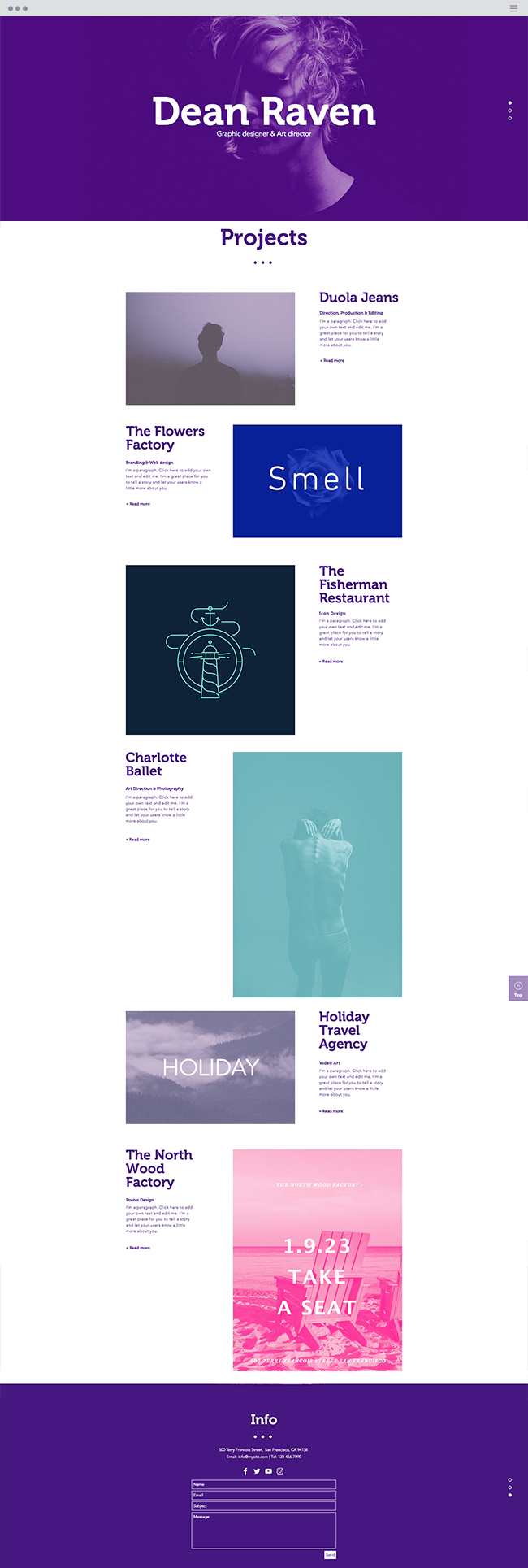 multidisciplinary Designer Website Template