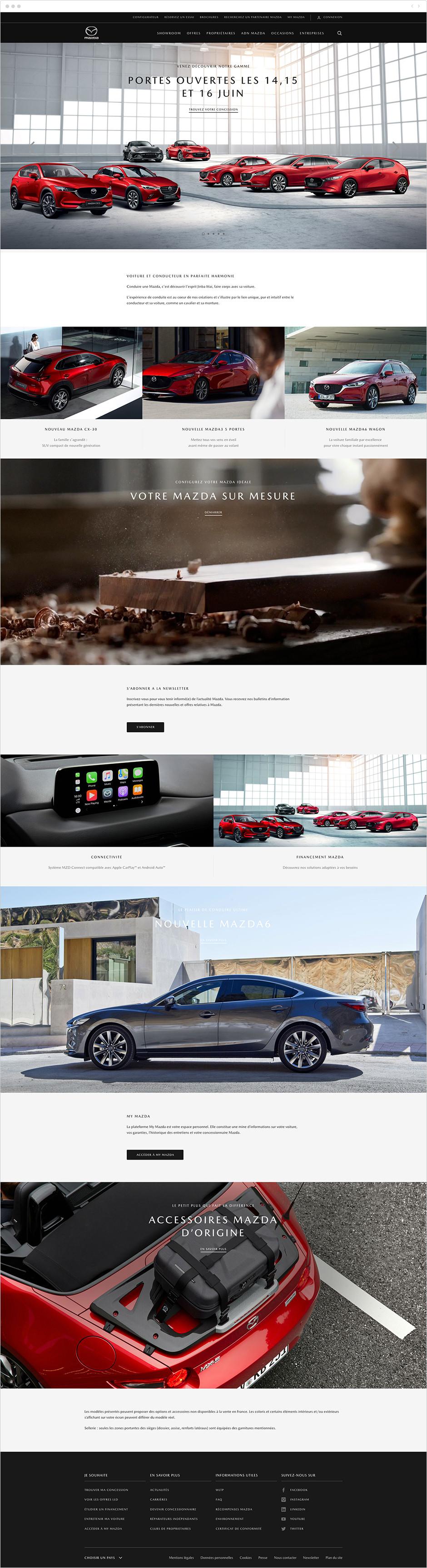 Mazda - Landing page