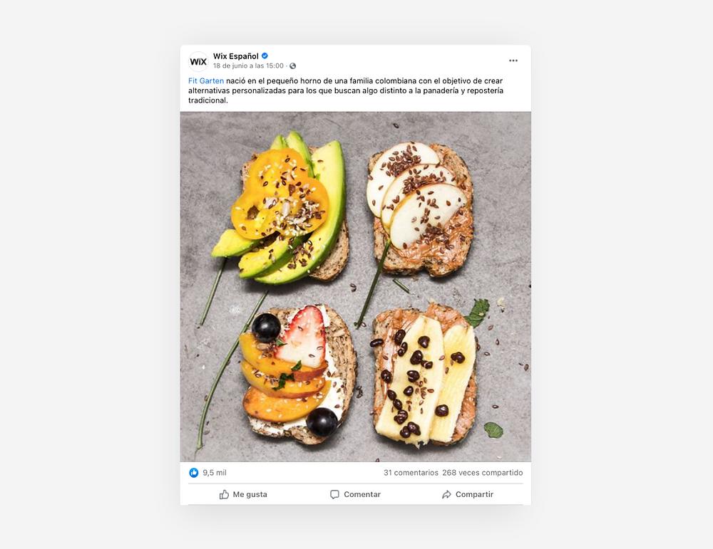 Publicacion de Facebook de una empresa
