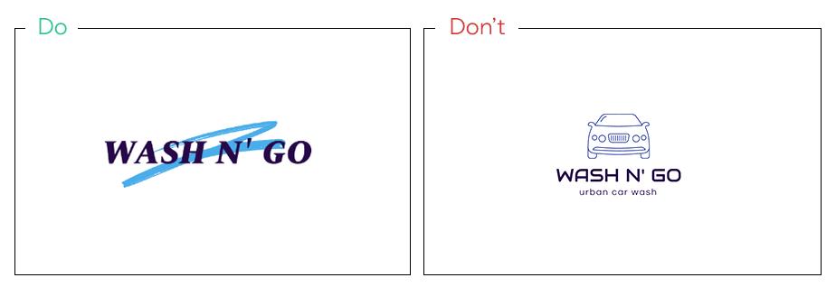 Logo von Wash n' Go als Beispiel für  konzeptionelle Icons und Symbole