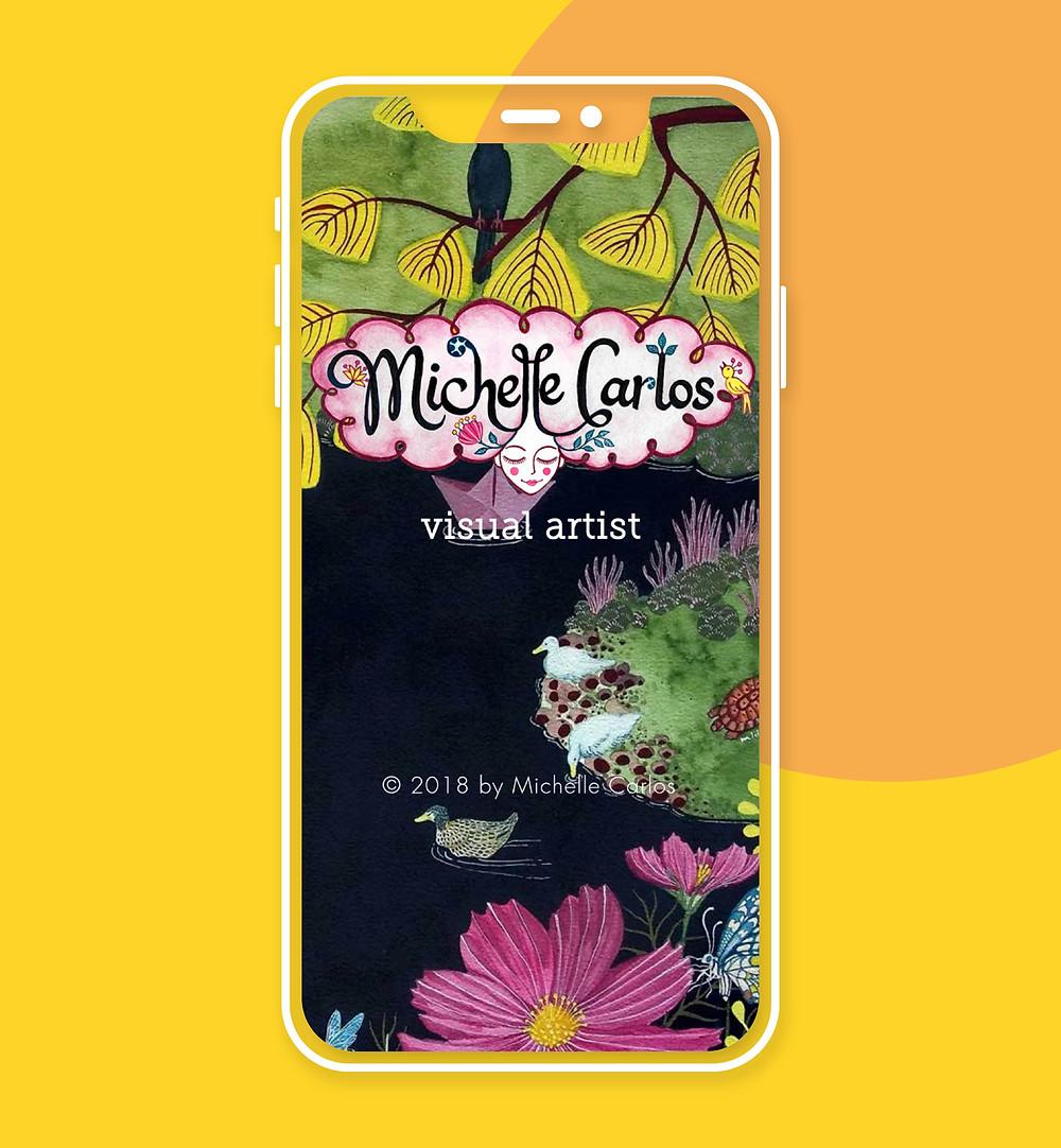 Exemple design mobile : Michelle Carlos
