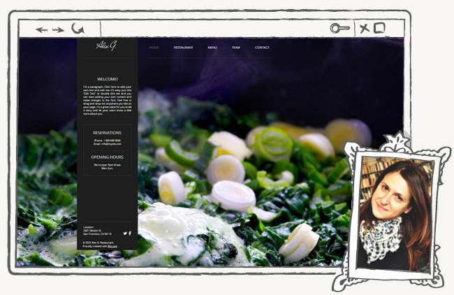 Шаблон для сайта ресторана