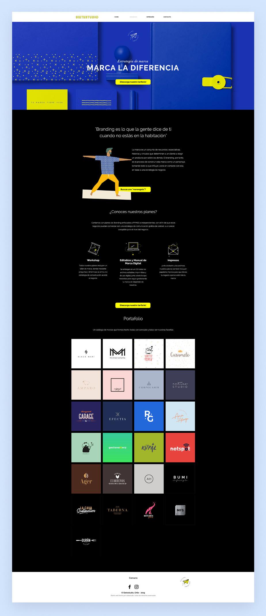 Como crear un portafolio de branding online