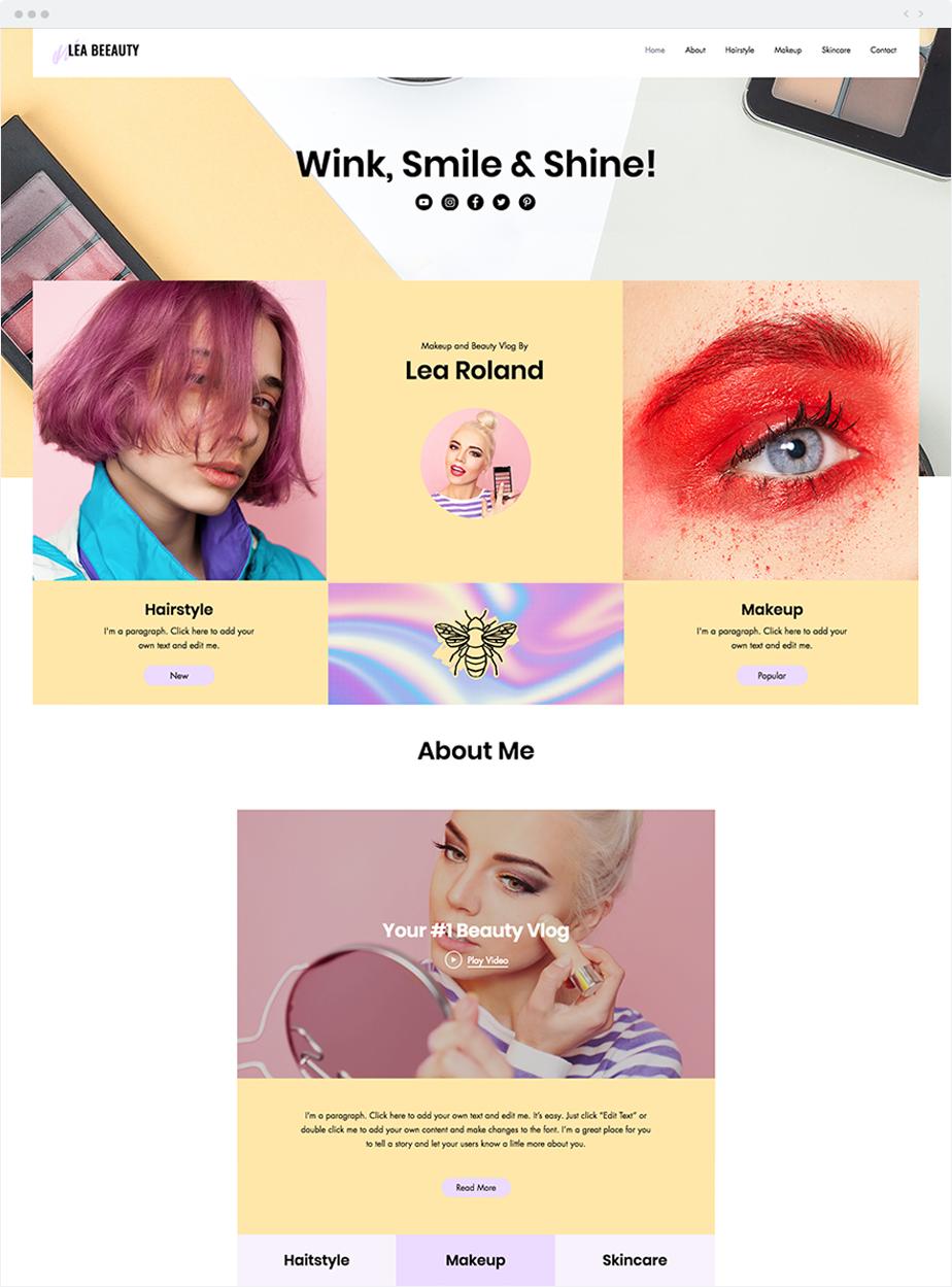 Esempio di un sito web per promuovere video