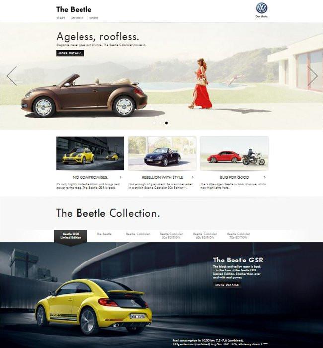 Capture d'écran du site de Beetle
