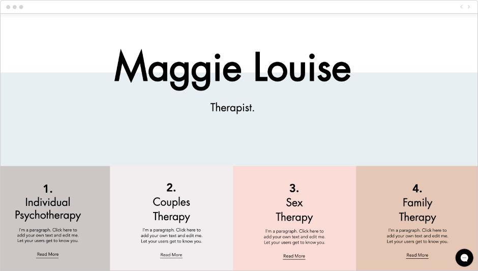 Therapy services template