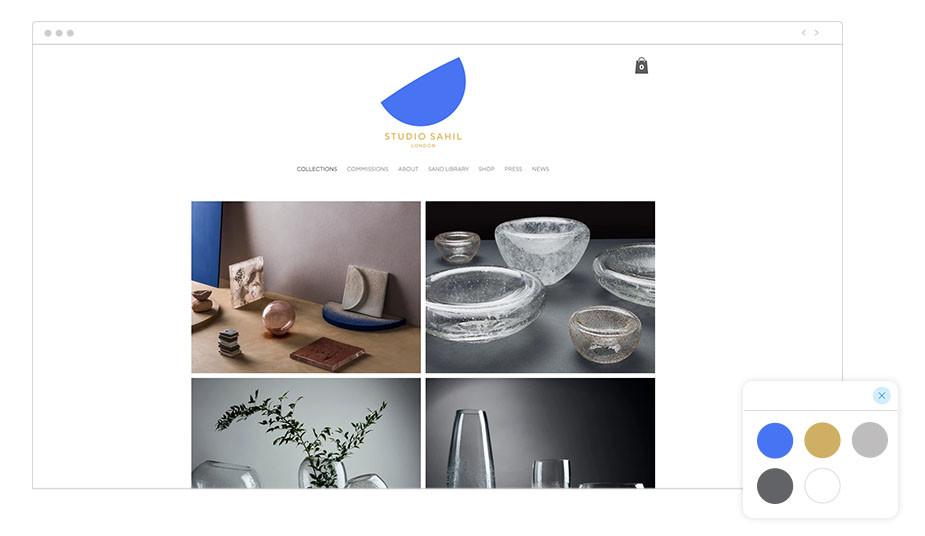 Studio Sahil Wix website