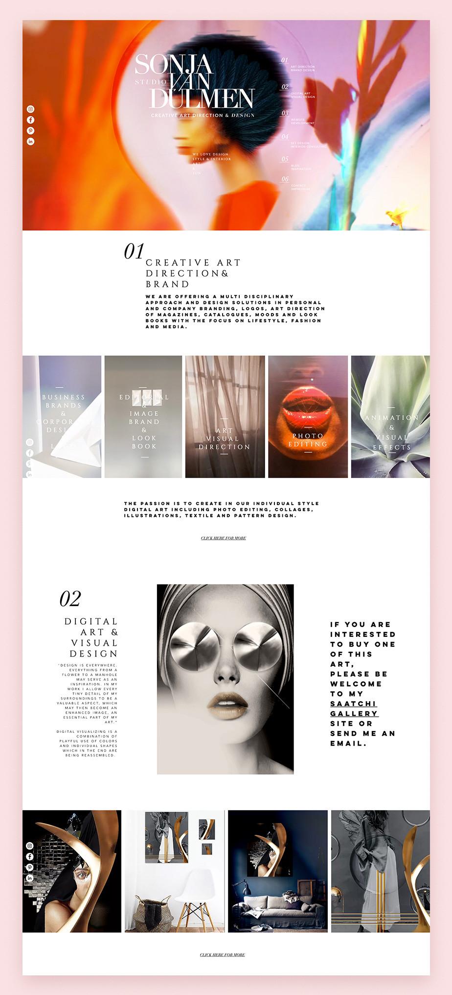Примеры сайтов на Wix: Sonja van Duelmen