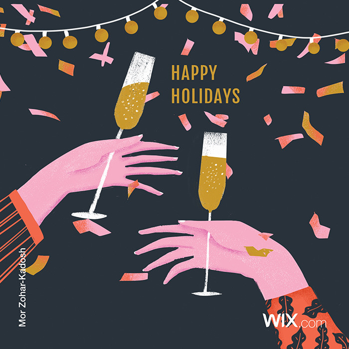 free online holiday greeting cards from Wix community