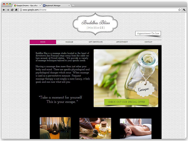 Página de Inicio de Buddha Bliss