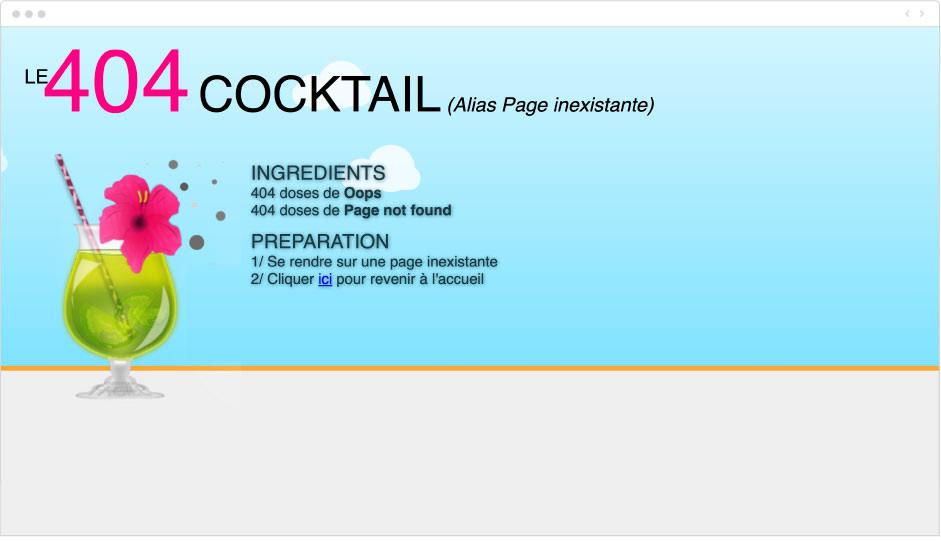cocktails faciles - page erreur 404