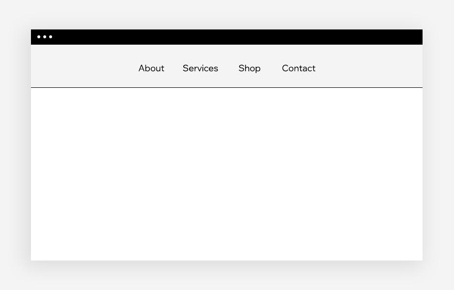 функциональные компоненты веб дизайна: навигация: классическое меню