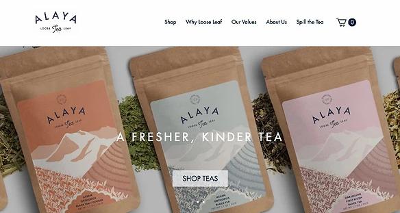 Strona główna sklepu Alaya Tea