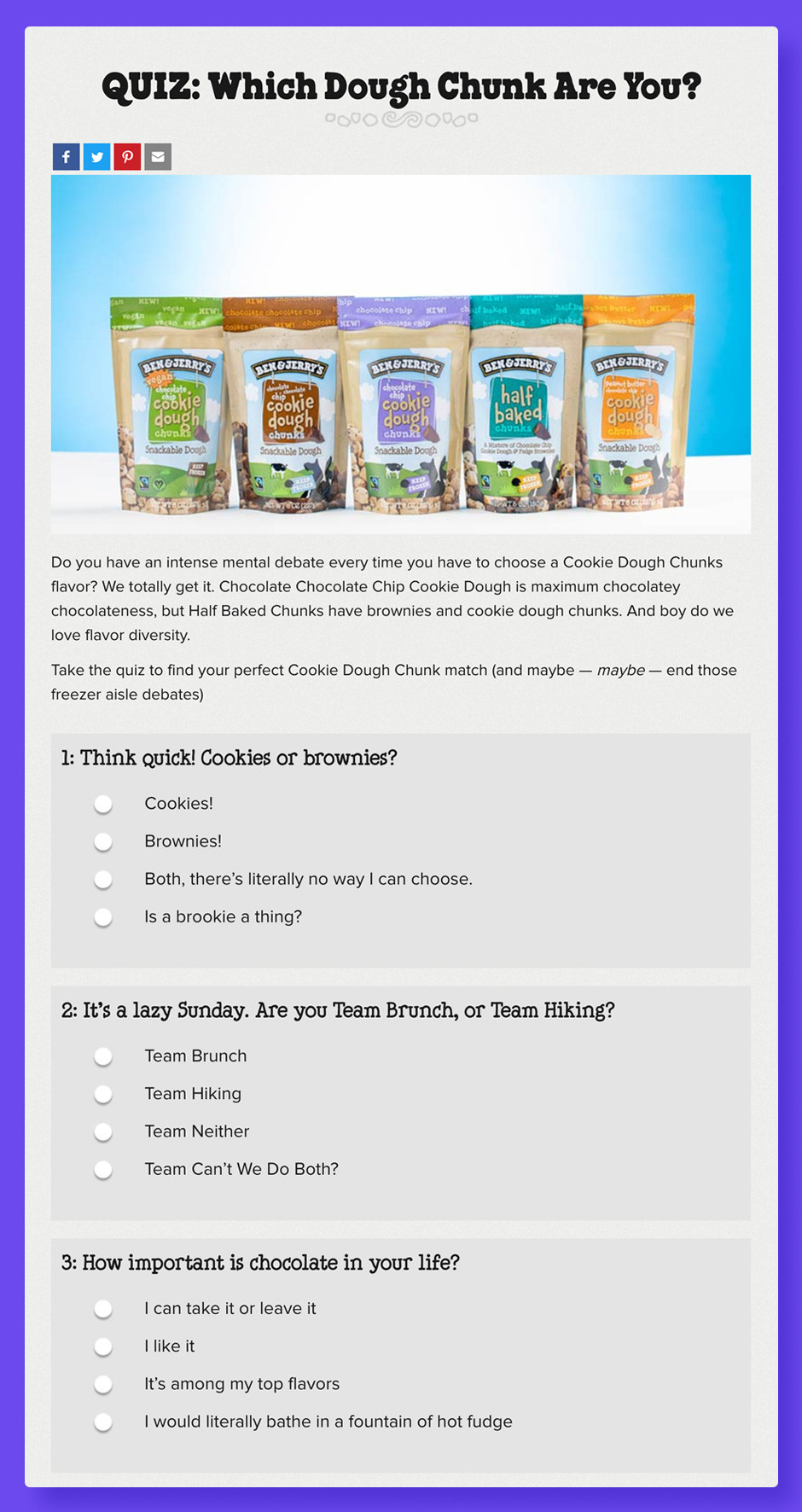 Czym jest content marketing: Ben and Jerry's