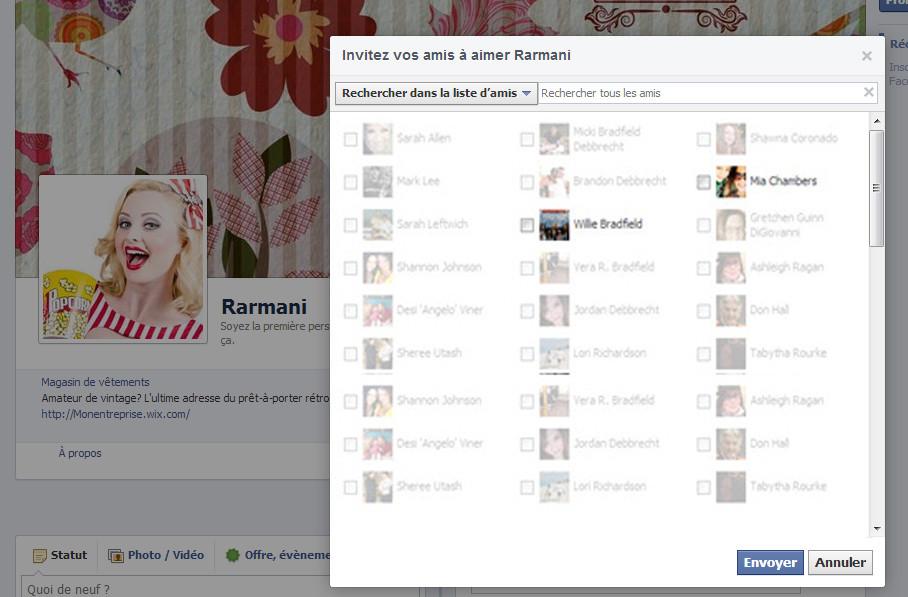 Comment inviter des amis à rejoindre sa page pro